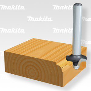 Makita D-09547 fréza stopková oblá R-8mm