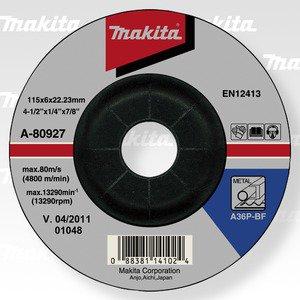 MAKITA A-80933 brusný kotouč 115x6x22 ocel 5ks