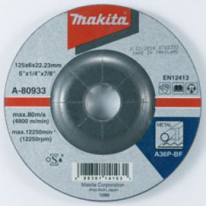 MAKITA A-80933 brusný kotouč 125x6x22 ocel 5ks