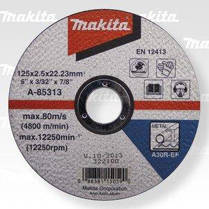 MAKITA A-85313 řezný kotouč 125x2,5x22 ocel 5ks