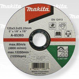 MAKITA A-85363 řezný kotouč 125x3x22 kámen 5ks