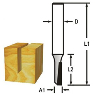 Drážkovací fréza 1 břit 6x19x50