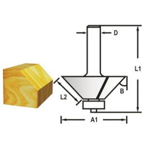 Makita D-48692 Fazetová/hranová fréza s ložiskem