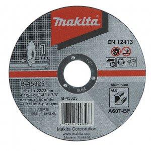 MAKITA B-45325 řezný kotouč 115x1x22 hliník 5ks