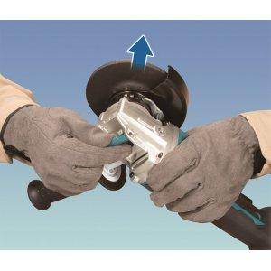 Aku úhlová bruska s regulací a X-lock 125mm Li-ion LXT 18V, bez aku   Z - Uvolnění kotouče
